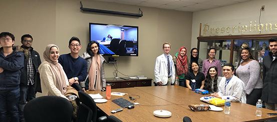 Students at Coffee Talk