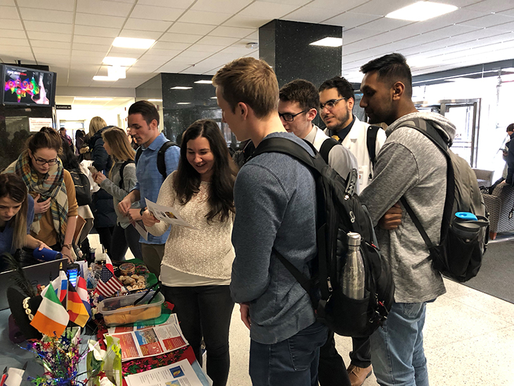Pharmacy students celebrating European Ethnic Heritage Day