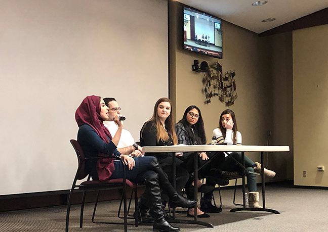 Pharmacy student panelists representing their different cultures and religions